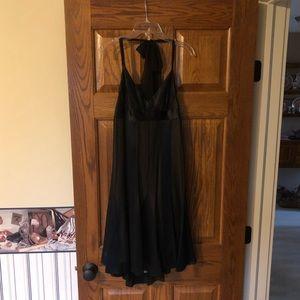 BCBG Black chiffon halter dress